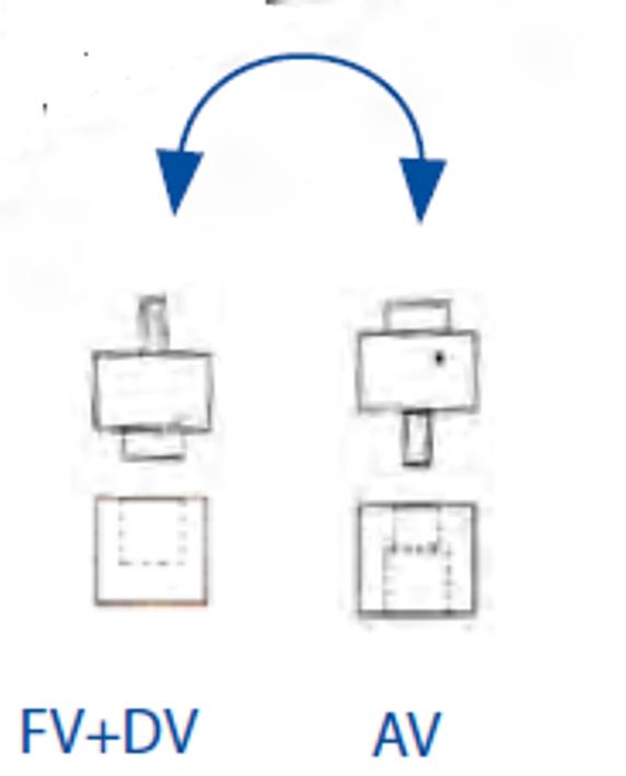 Ventura Fahrrad Luftpumpe Rahmenpumpe AV//DV//SV 3 Längen