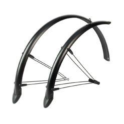 """Fahrrad Schutzblech 28/"""" vorne//hinten//Set 54//60 mm Metall schwarz//weiß"""