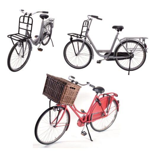 Fahrrad Gepäckträger vorne Vorderradgepäckträger bis 28 Stahl Schwarz - 3